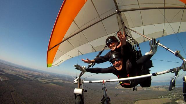 superwoman hang gliding